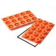 Silikomart - Small Donuts Silicone Mould 15 Cup Orange