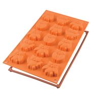 Silikomart - Silicone Mould Mini Fairy Owls 15 Cup Orange