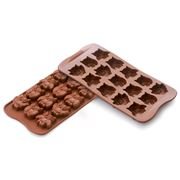 Silikomart - Choco Gufi Silicone Mould Brown