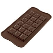Silikomart - Silicone Mould Tablette Choco Bar Brown