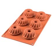 Silikomart - Mini Gugelhupf Silicone Mould Terracotta