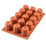 Silikomart - Midi Cannele Silicone Mould Terracotta