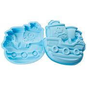 Silikomart - Pirates Boat Silicone Mould Light Blue