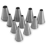 Silikomart - Stainless Steel Round Nozzles Set 10pce