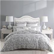 Private Collection - Serenade Quilt Cr Set Silver Queen 3pc