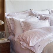 Lexington - Striped Sateen Pillowcase Pink 65x65cm