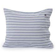 Lexington -  Poplin Pillowcase White/Blue Stripe 50x75cm
