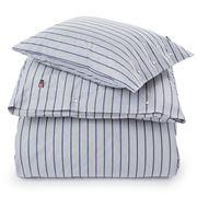 Lexington - Blue Striped Poplin Duvet 210x210cm