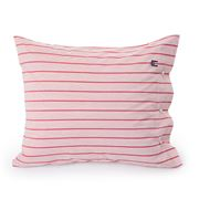 Lexington - Poplin Pillowcase Red/White Stripe 50x75cm