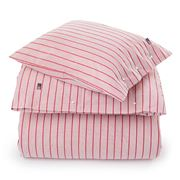 Lexington - Striped Poplin Flat Sheet Red King