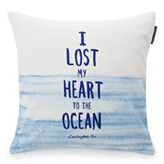 Lexington - I Lost My Heart To Ocean Sham White/Blue 50x50