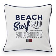 Lexington - Beach Surf Sand & Sunshine Sham White 50x50cm