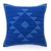 Lexington - Washed Patchwork Blue Quilt Sham 65x65cm
