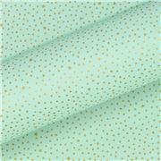 Vandoros - Pastel Mint / Gold Dot Wrapping Paper 76cmx250cm