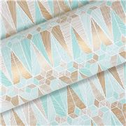 Vandoros - Astra Ice Blue/Gold Wrapping Paper 76cm x 2.5M