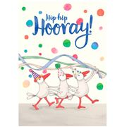 Affirmations - A4 Hip-Hip Hooray! Greeting Card