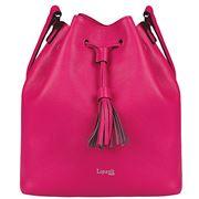 Lipault - Plume Elegance Leather Bucket Bag Tahiti Pink