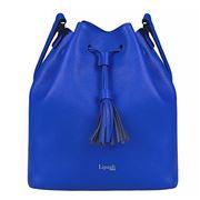 Lipault - Plume Elegance Leather Bucket Bag Exotic Blue
