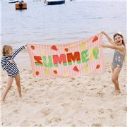 Wonga Road - Velour Beach Towel Fruity 75x150cm