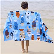 Wonga Road -  Velour Beach Towel Fishy Fish 75x150cm