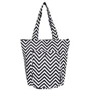 Sachi - Insulated Folding Market Tote Bag Chevron Stripe