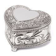 Whitehill - Heart Shaped Musical Jewellery Box