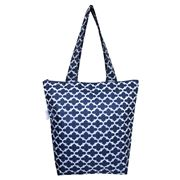 Sachi - Insulated Folding Market Tote Bag Moroccan Navy