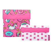 Sachi - Lunch Pockets Set Unicorn 2pce