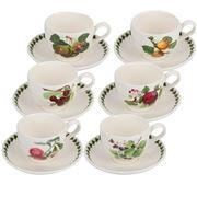 Portmeirion - Pomona Tea Cup & Saucer Set 6pce