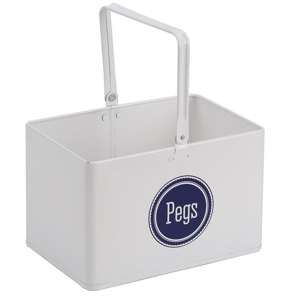 Retro Kitchen White Peg Bucket Peters Of Kensington