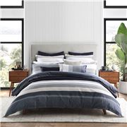 Private Collection - Avoca Navy Queen Quilt Cover Set 3pce