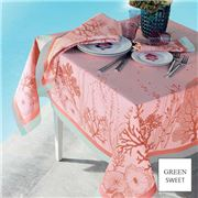 Garnier-Thiebaut - Corail Tablecloth Rose 155x260cm