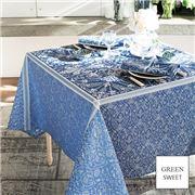 Garnier-Thiebaut - Cassandre Tablecloth Saphir 174x254cm