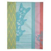 Garnier-Thiebaut - Petits Chats Bleu Tea Towel 56x77cm