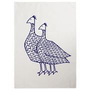 Eastbourne Art - Ostriches Tea Towel White