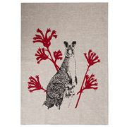 Eastbourne Art - Kangaroo Tea Towel Natural