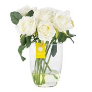 Florabelle - Cream/White Rose Bouquet In Water