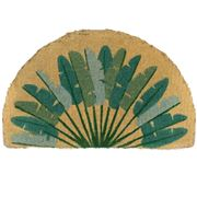 Doormat Designs - Half Round Leaves Welcome Mat