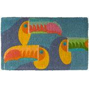 Doormat Designs - Toucans Natural Coir Door Mat