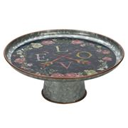 Thirstystone - Galvanised Iron Love Cake Stand