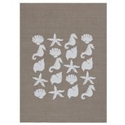 Eastbourne Art - Seashells Tea Towel