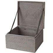 Rattan - Greywash Medium Storage Box