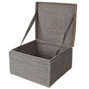 Rattan - Greywash Large Storage Box