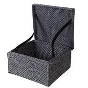 Rattan - Blackwash Medium Storage Box