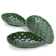 Virginia Casa - Prickly Pear Leaf Platter 3 Sec Dark Green