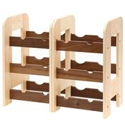 Kodai - Adjustable Wine Rack Walnut 12 Bottles
