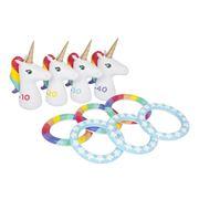 SunnyLife - Inflatable Ring Toss Set Unicorn 10pce
