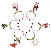 Avanti - Wine Charms Set Christmas 6pce