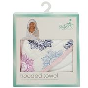 Aden - Pretty Pink Medallion Hooded Towel