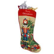 Sferra - Stocking Nutcracker Merry Christmas